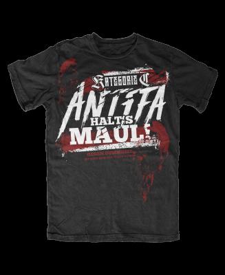 Shirt Antifa Halts Maul NEU