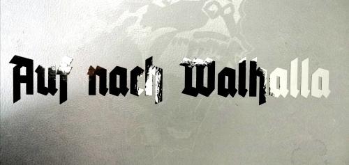 Aufkleber Auf nach Walhalla Transparent hochglanz