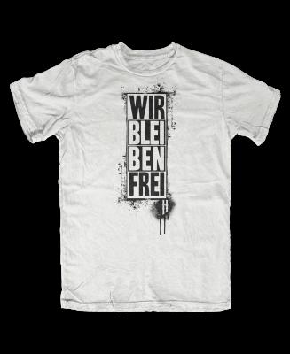 T-shirt Hannes Wir bleiben Frei weiß