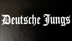 Aufkleber Deutsche Jungs weiß Transparent