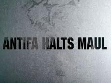 Aufkleber Antifa Halts Maul Transparent