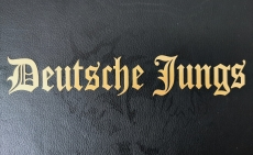 Aufkleber Deutsche Jungs gold Transparent