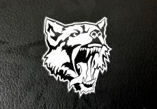 Aufkleber Wolfskopf mittel